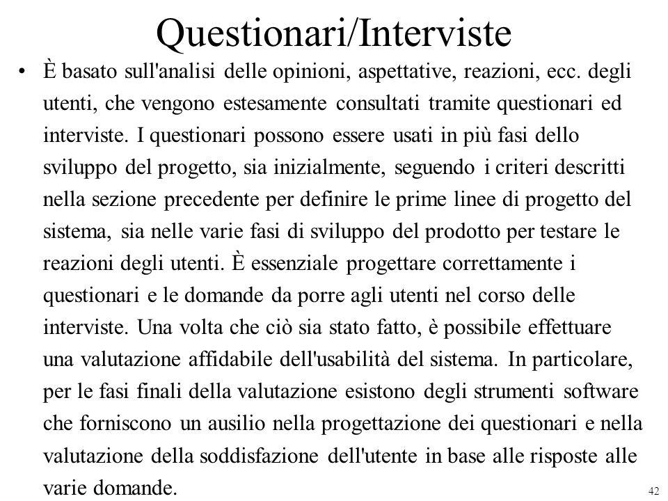 Questionari/Interviste