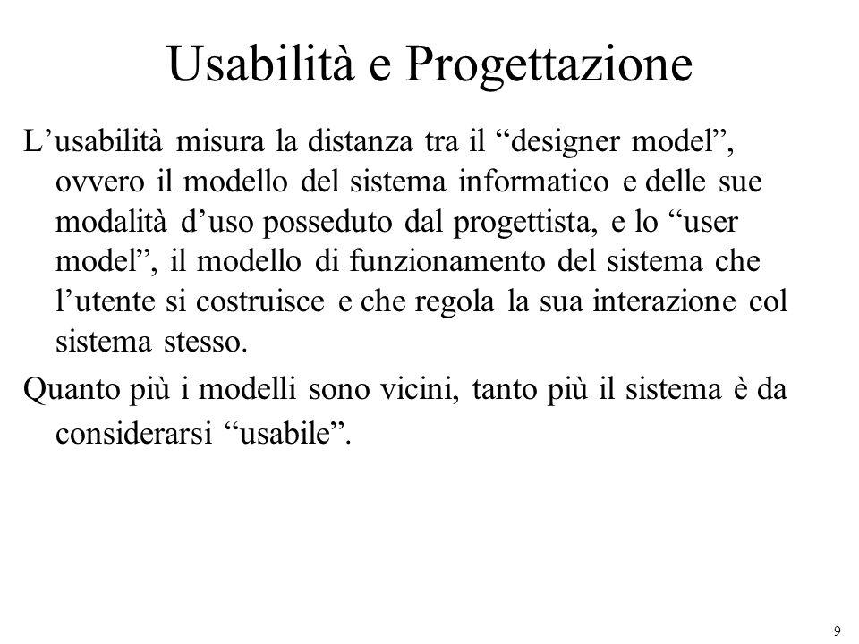 Usabilità e Progettazione