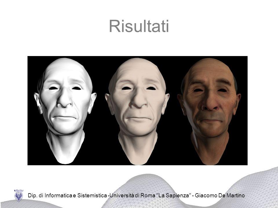 Risultati Dip. di Informatica e Sistemistica -Università di Roma La Sapienza - Giacomo De Martino