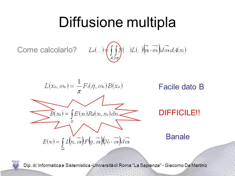 Diffusione multipla Come calcolarlo Facile dato B DIFFICILE!! Banale