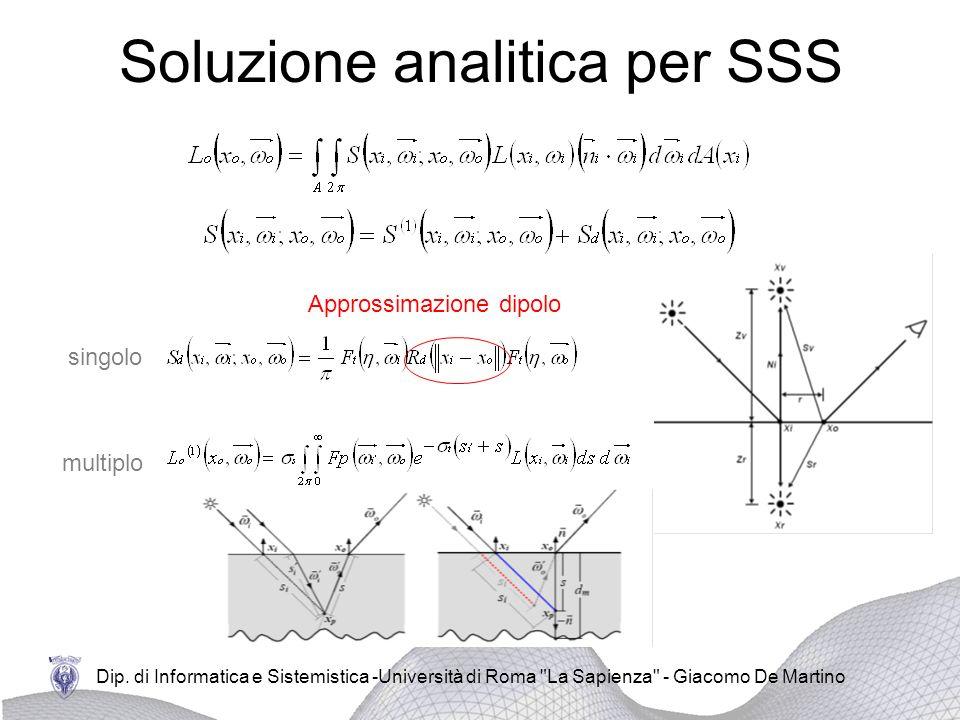 Soluzione analitica per SSS