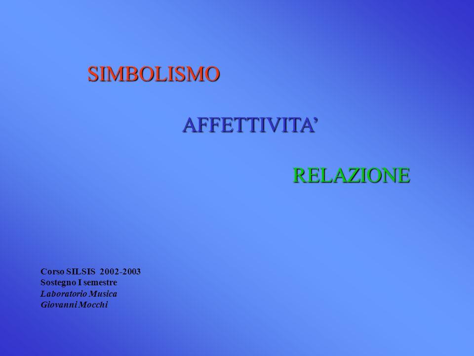SIMBOLISMO AFFETTIVITA' RELAZIONE Corso SILSIS 2002-2003