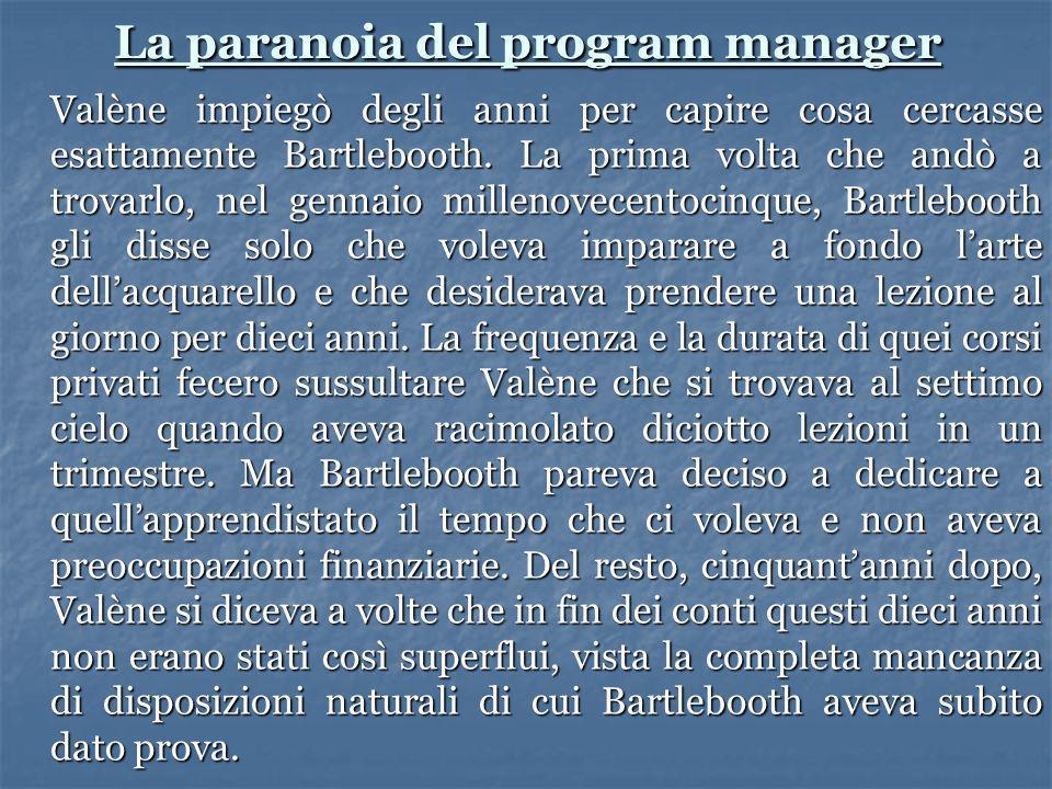 La paranoia del program manager
