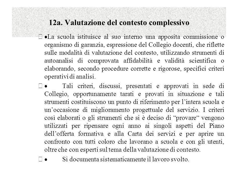 12a. Valutazione del contesto complessivo