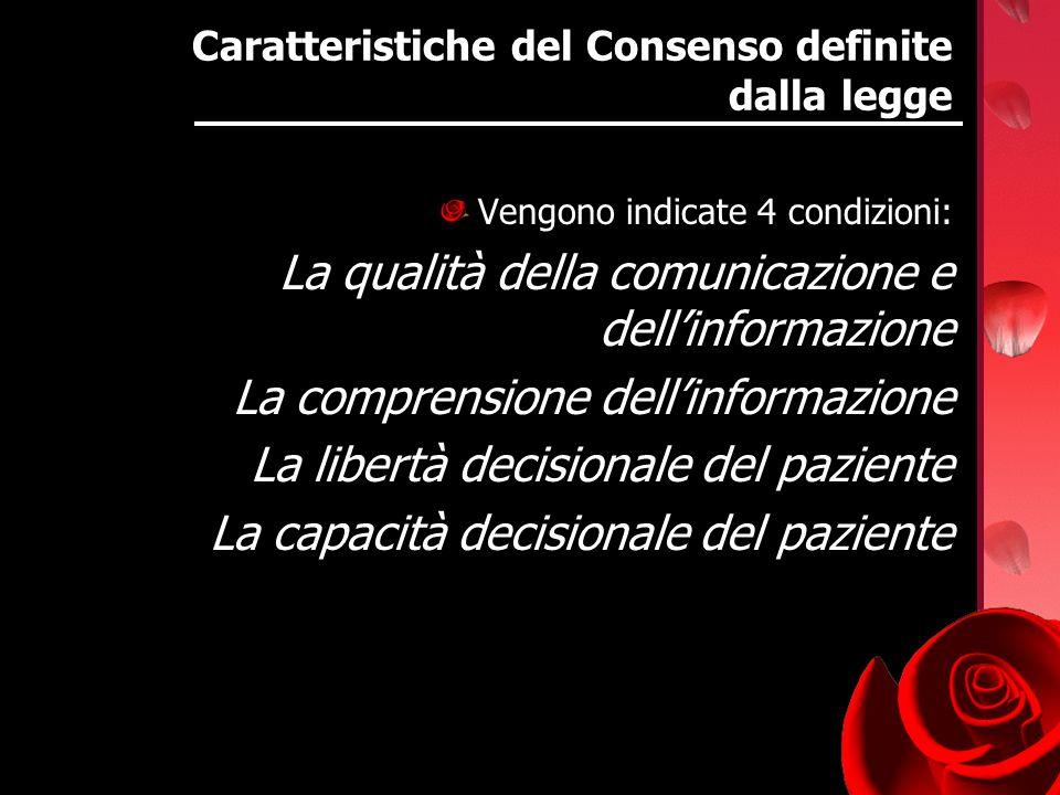 Caratteristiche del Consenso definite dalla legge