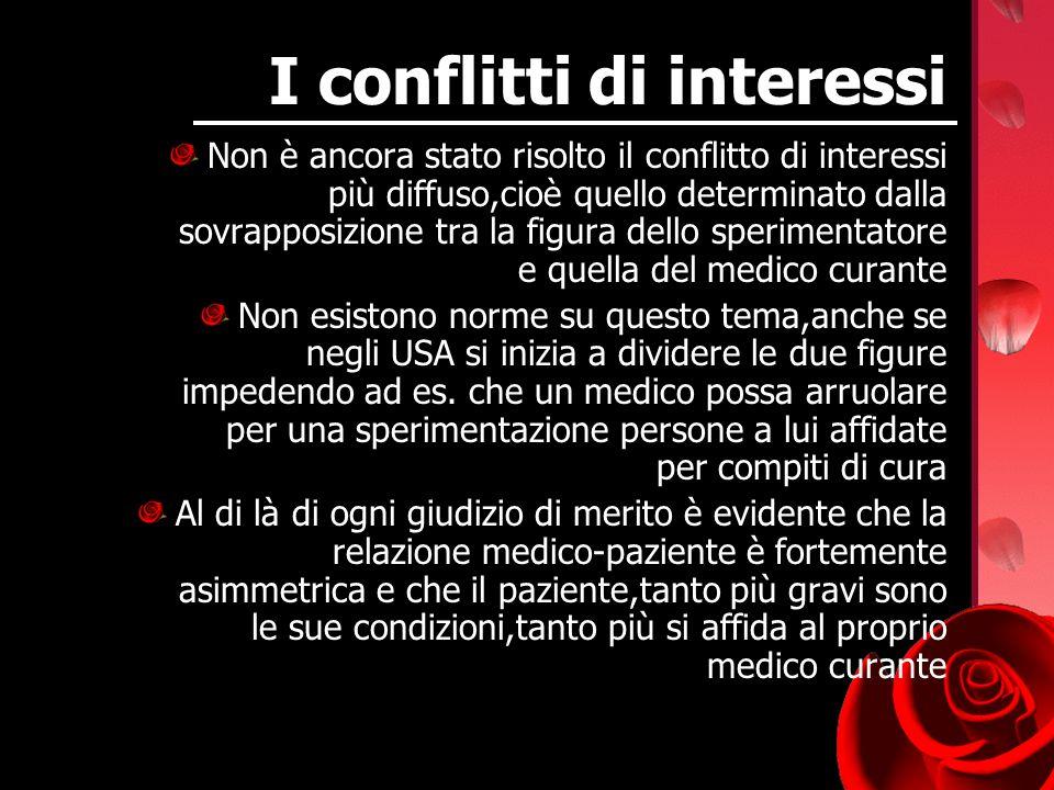 I conflitti di interessi