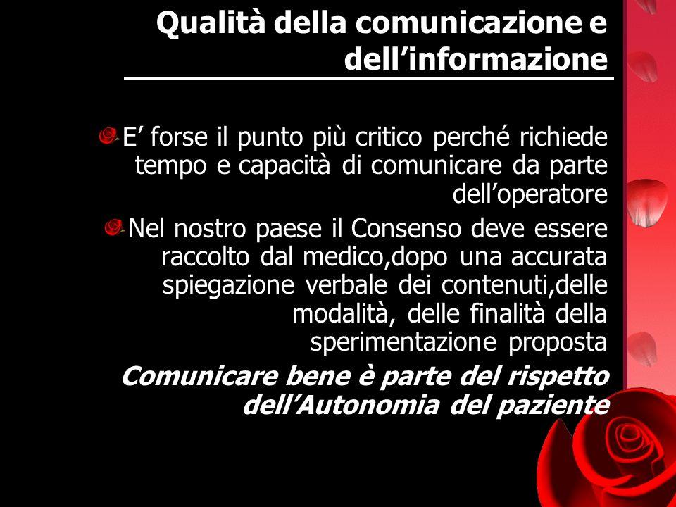 Qualità della comunicazione e dell'informazione