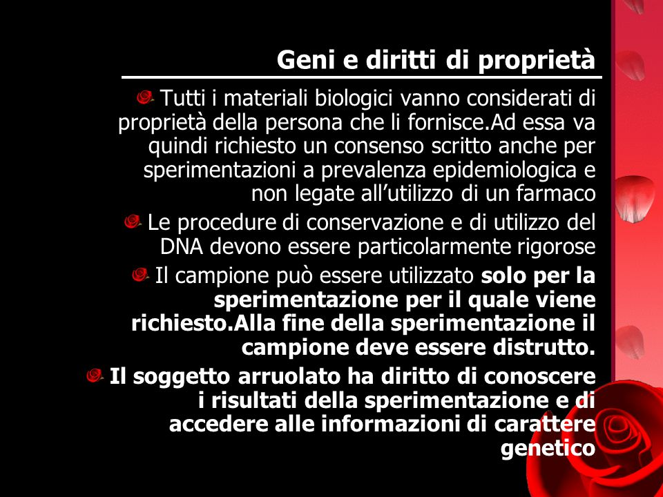 Geni e diritti di proprietà