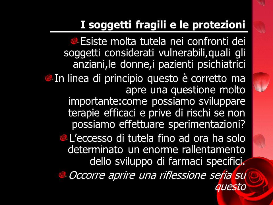 I soggetti fragili e le protezioni