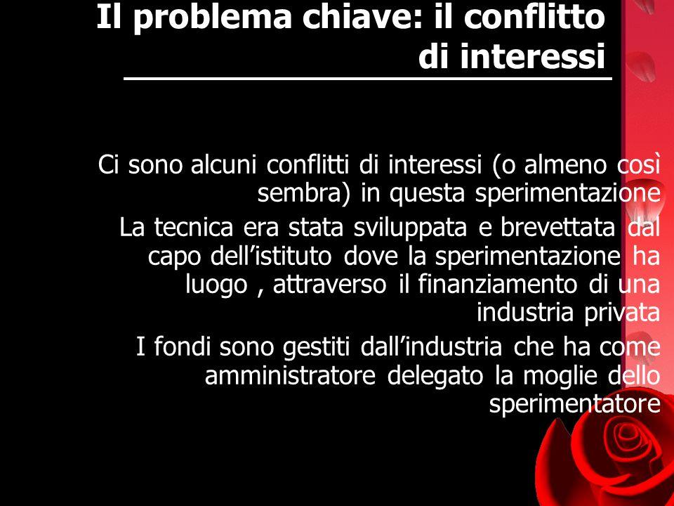 Il problema chiave: il conflitto di interessi