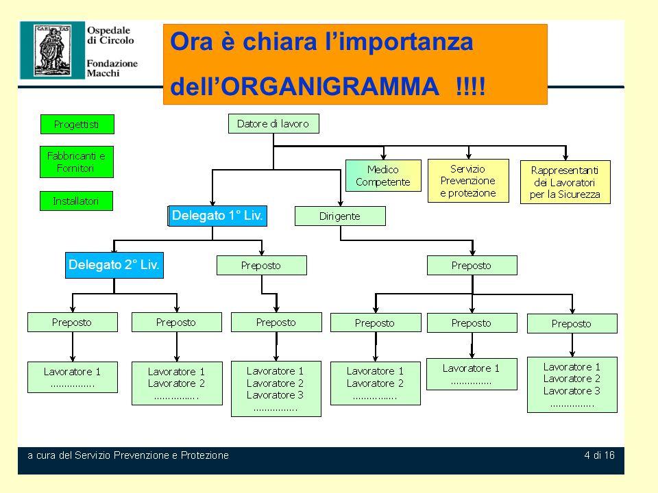Ora è chiara l'importanza dell'ORGANIGRAMMA !!!!