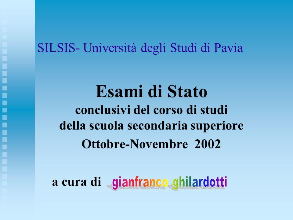 SILSIS- Università degli Studi di Pavia