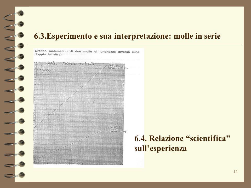 6.3.Esperimento e sua interpretazione: molle in serie