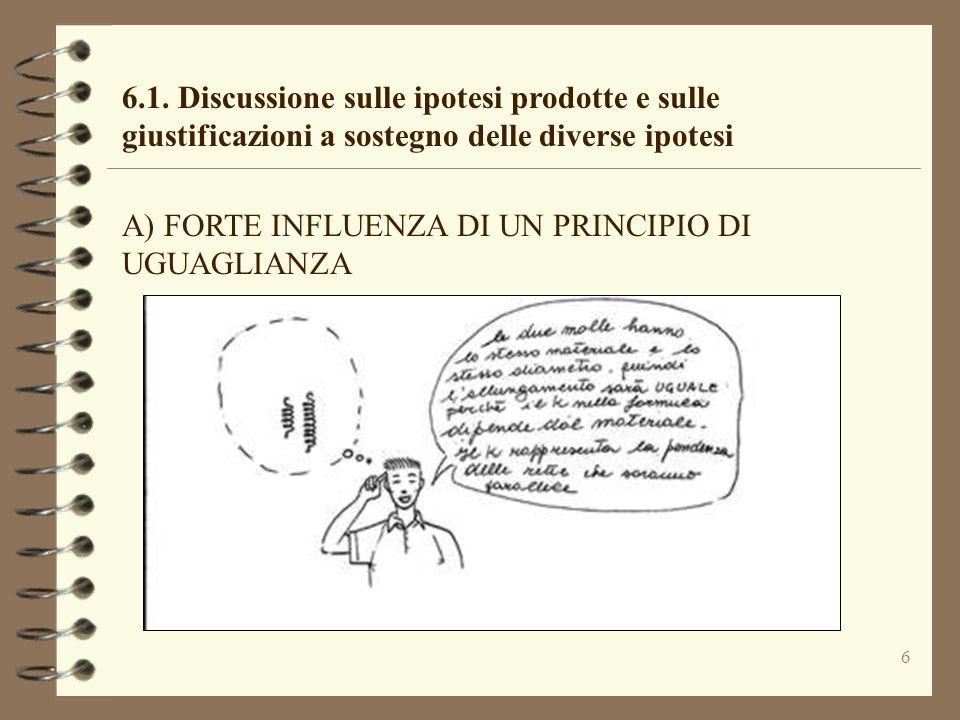 6.1. Discussione sulle ipotesi prodotte e sulle giustificazioni a sostegno delle diverse ipotesi