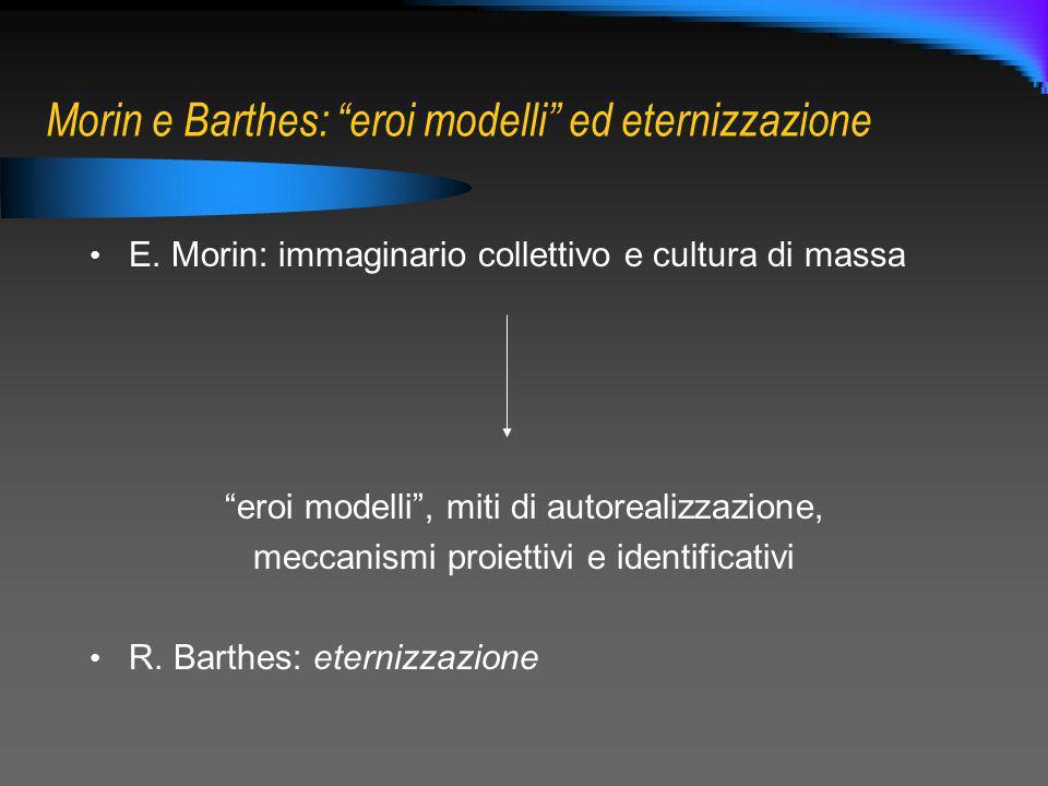 Morin e Barthes: eroi modelli ed eternizzazione