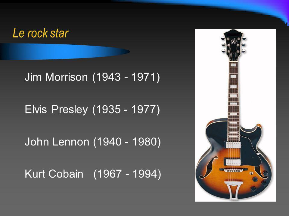 Le rock star Jim Morrison (1943 - 1971) Elvis Presley (1935 - 1977)