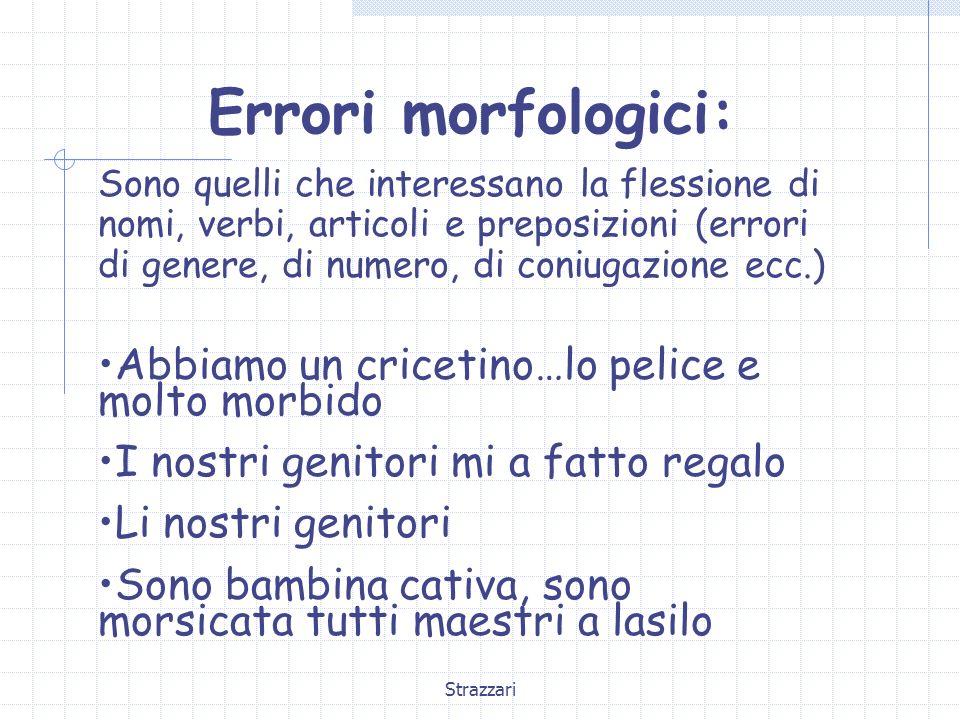 Errori morfologici: Abbiamo un cricetino…lo pelice e molto morbido