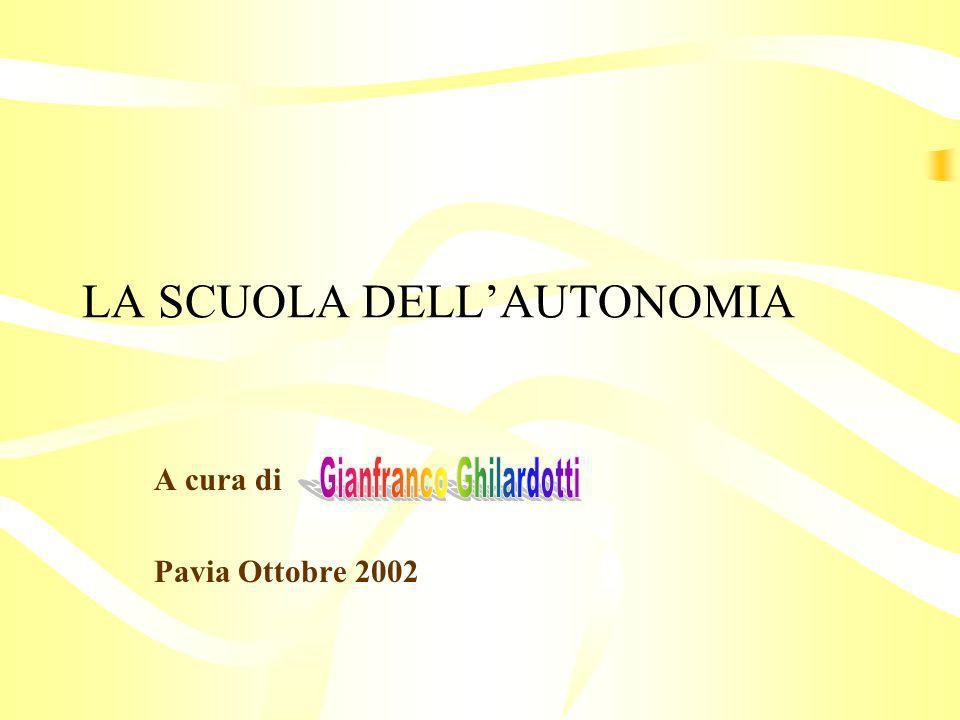 LA SCUOLA DELL'AUTONOMIA