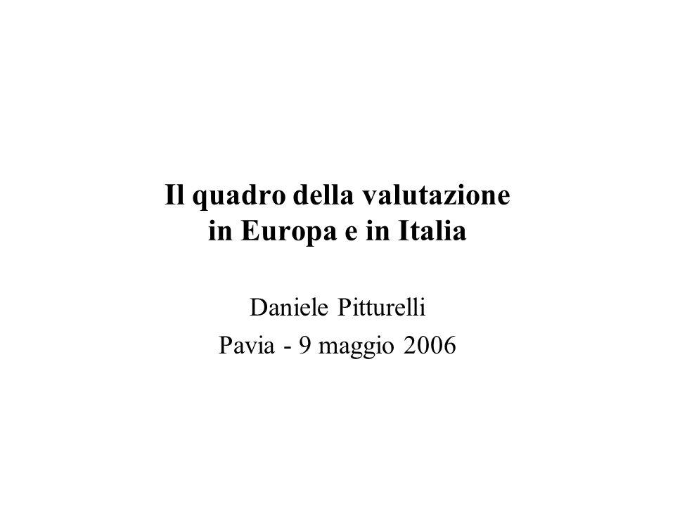 Il quadro della valutazione in Europa e in Italia