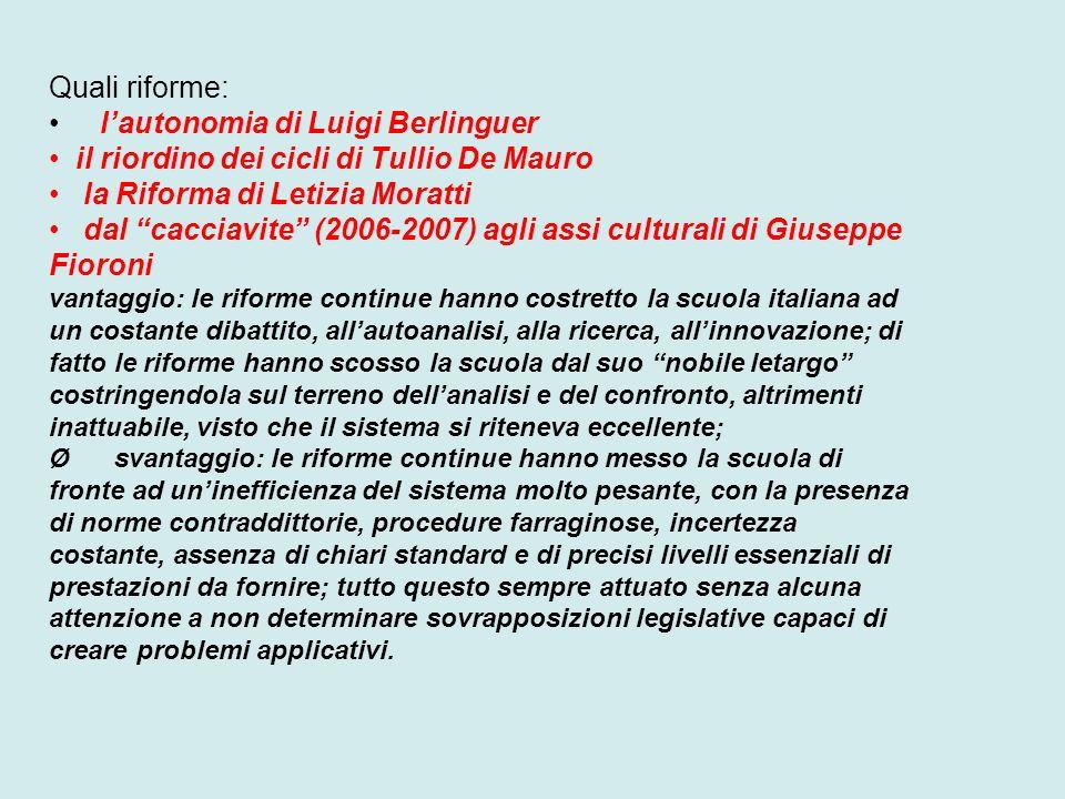 l'autonomia di Luigi Berlinguer