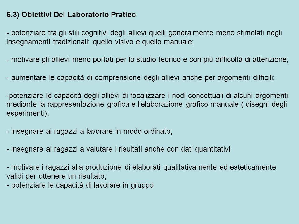 6.3) Obiettivi Del Laboratorio Pratico