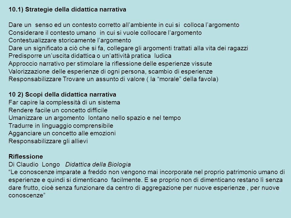 10.1) Strategie della didattica narrativa