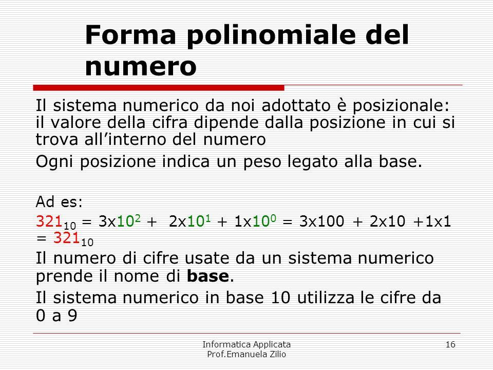 Forma polinomiale del numero