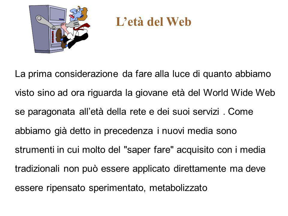 L'età del Web