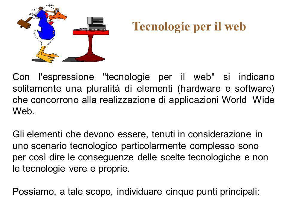 Tecnologie per il web