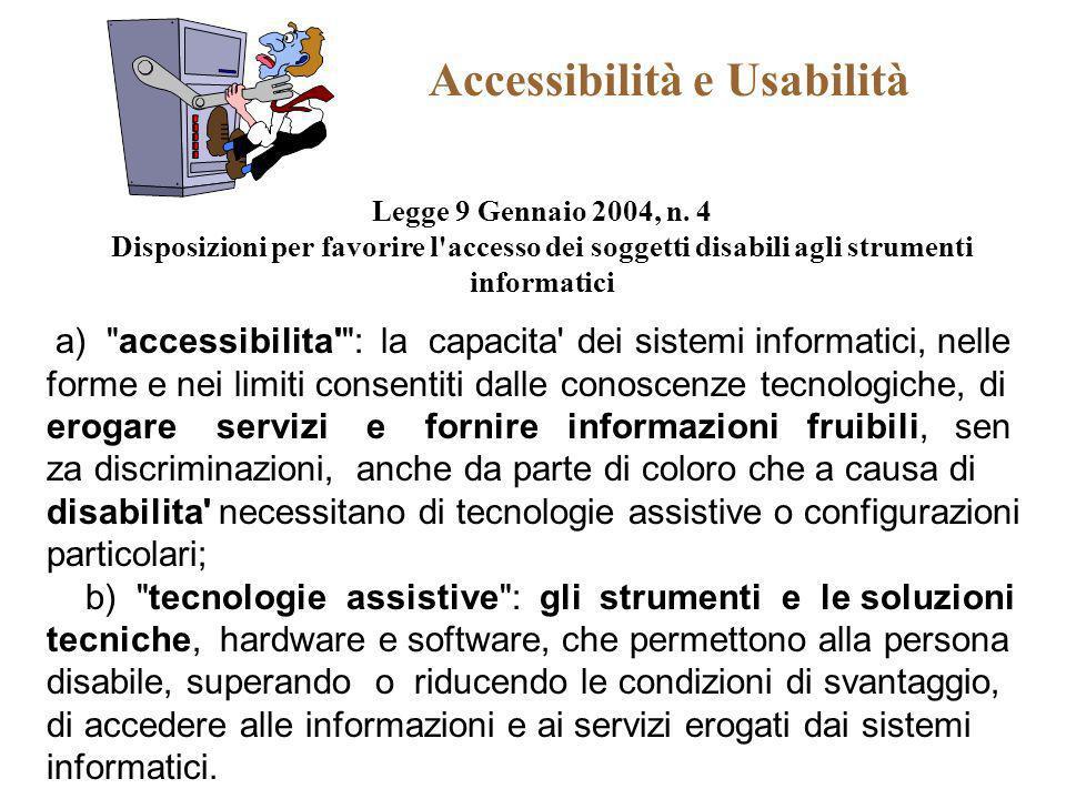 Accessibilità e Usabilità