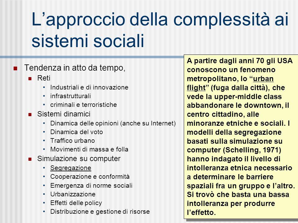 L'approccio della complessità ai sistemi sociali