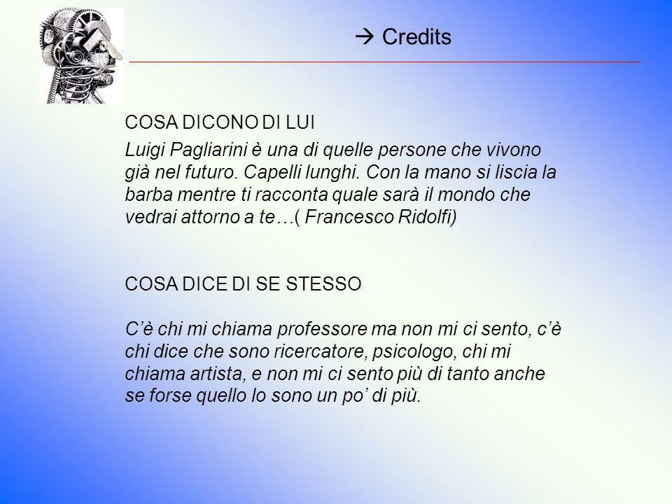  Credits COSA DICONO DI LUI