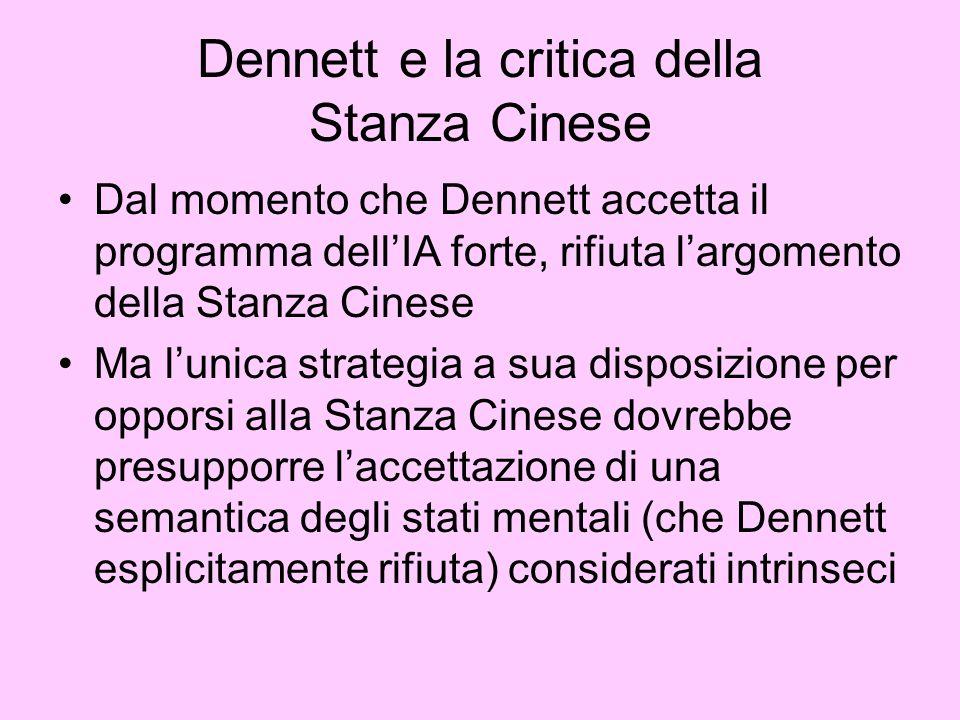 Dennett e la critica della Stanza Cinese