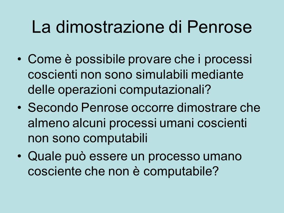 La dimostrazione di Penrose