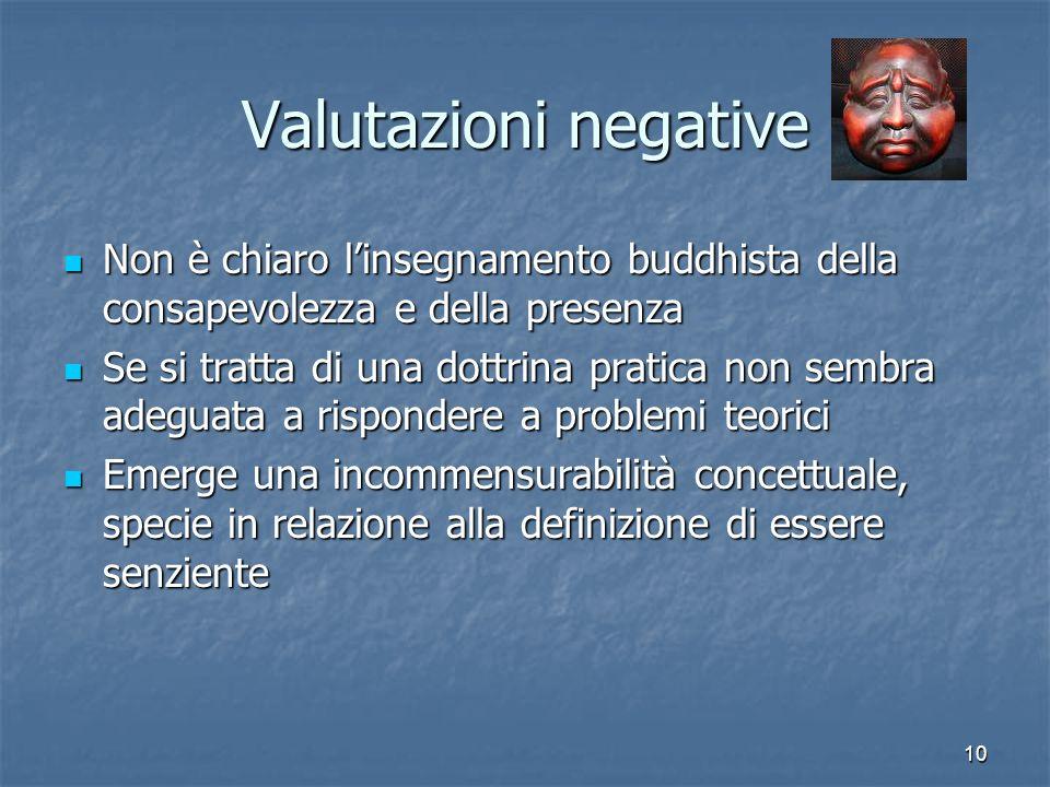 Valutazioni negativeNon è chiaro l'insegnamento buddhista della consapevolezza e della presenza.