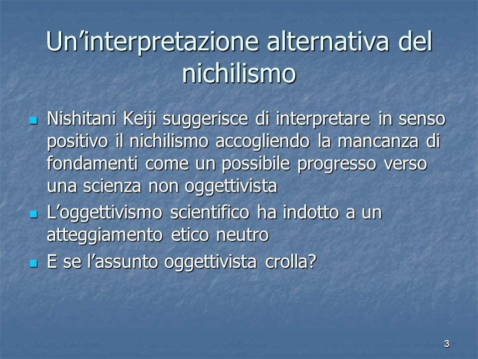 Un'interpretazione alternativa del nichilismo