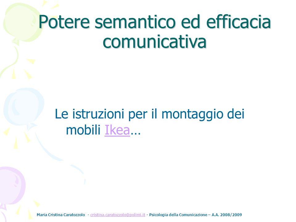 Potere semantico ed efficacia comunicativa