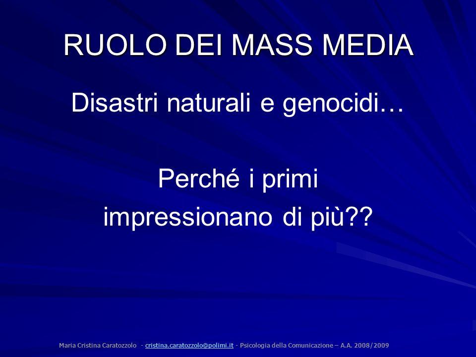 Disastri naturali e genocidi…