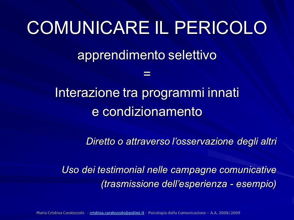 COMUNICARE IL PERICOLO