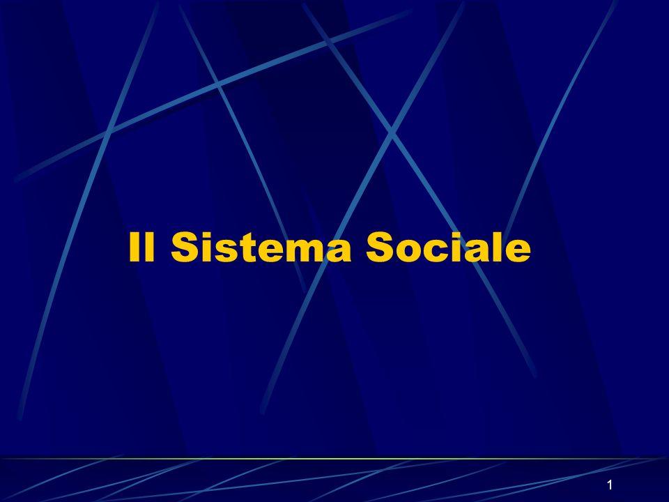 Il Sistema Sociale