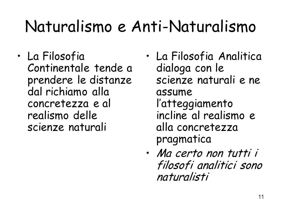 Naturalismo e Anti-Naturalismo