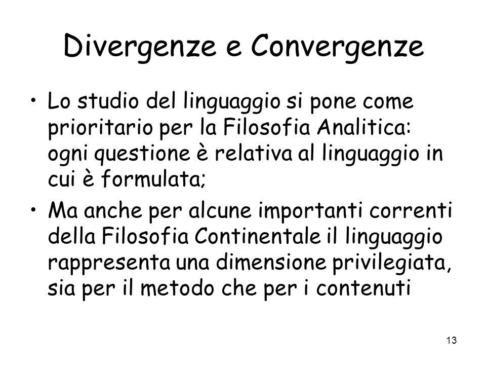 Divergenze e Convergenze