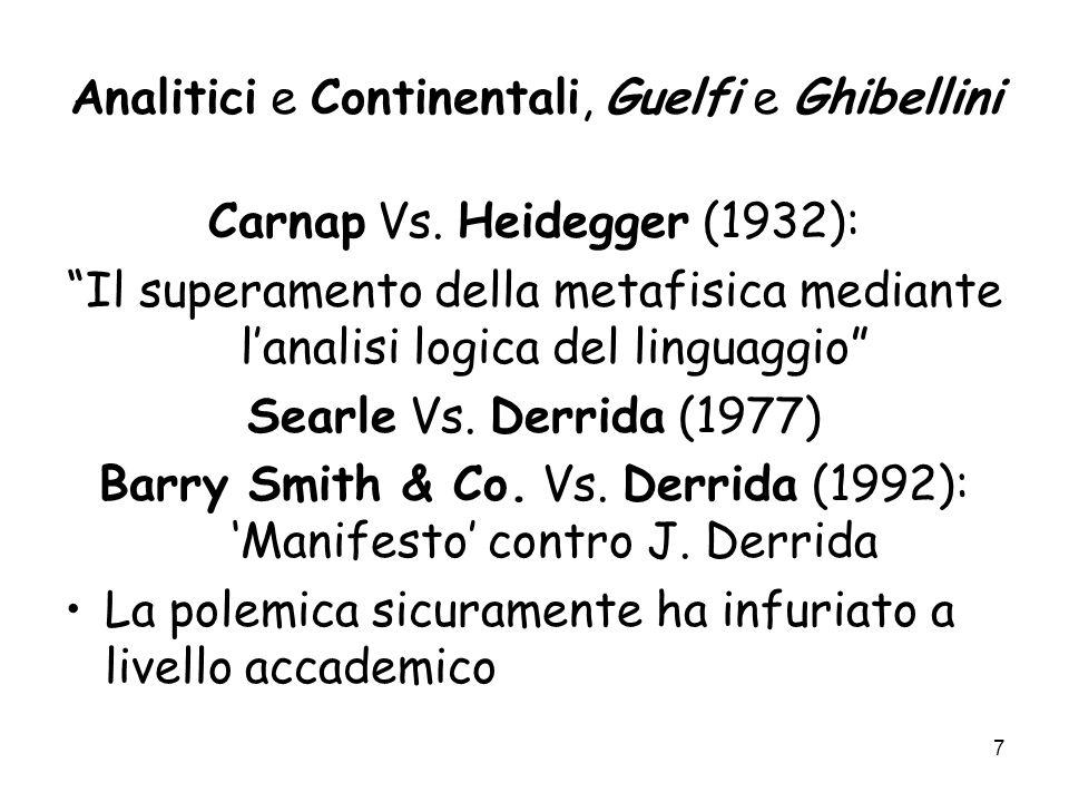 Analitici e Continentali, Guelfi e Ghibellini