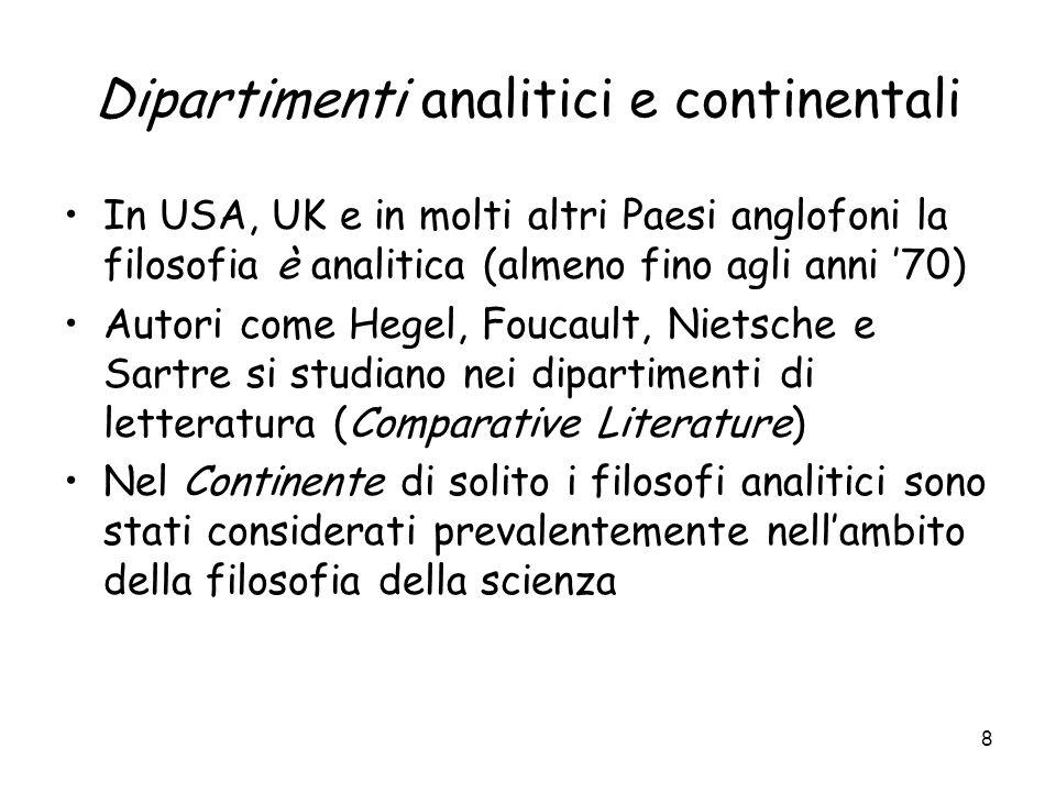 Dipartimenti analitici e continentali