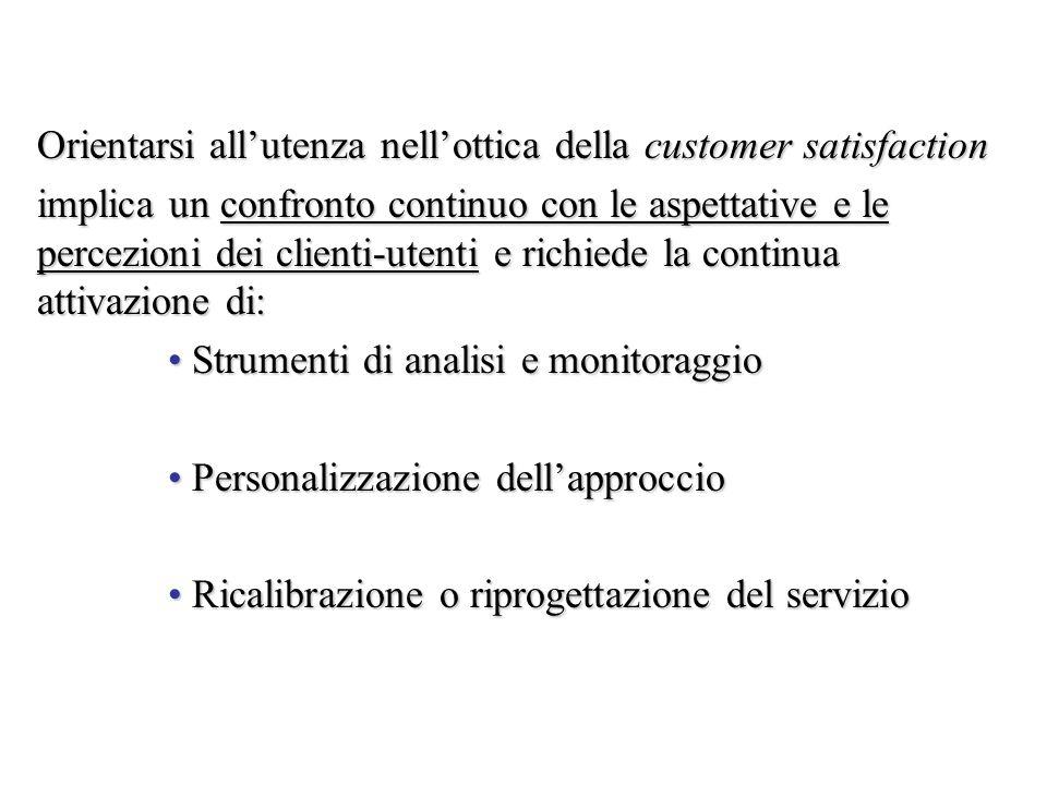 Orientarsi all'utenza nell'ottica della customer satisfaction