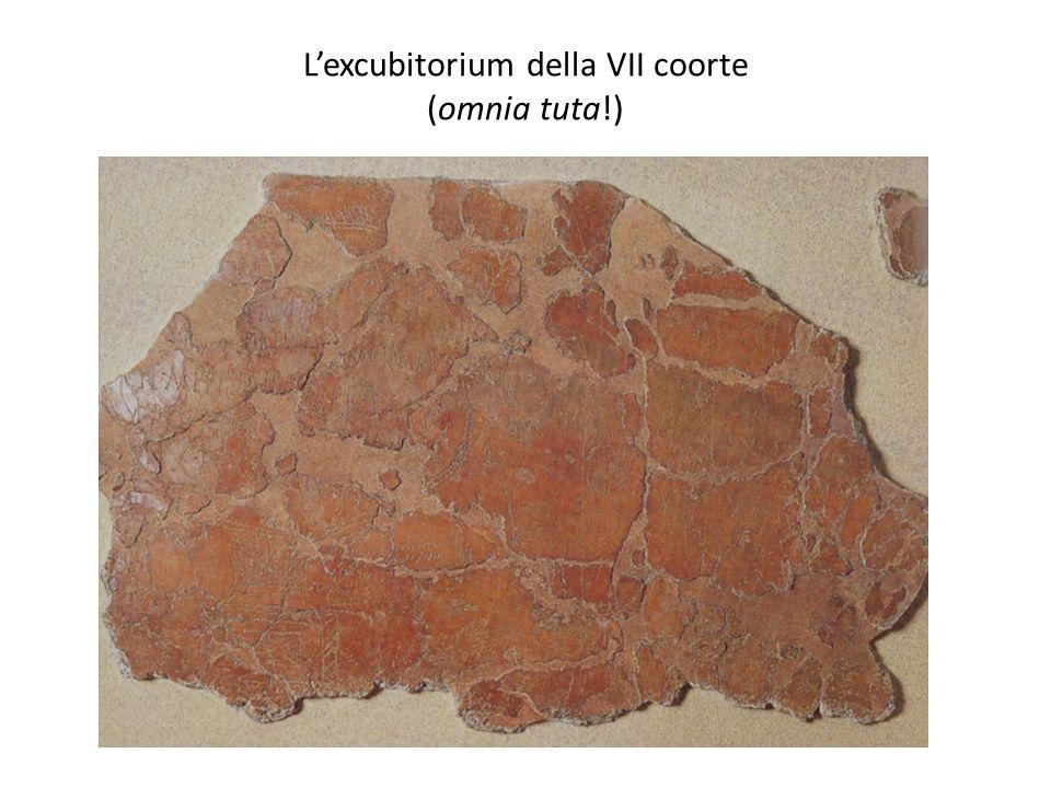 L'excubitorium della VII coorte (omnia tuta!)