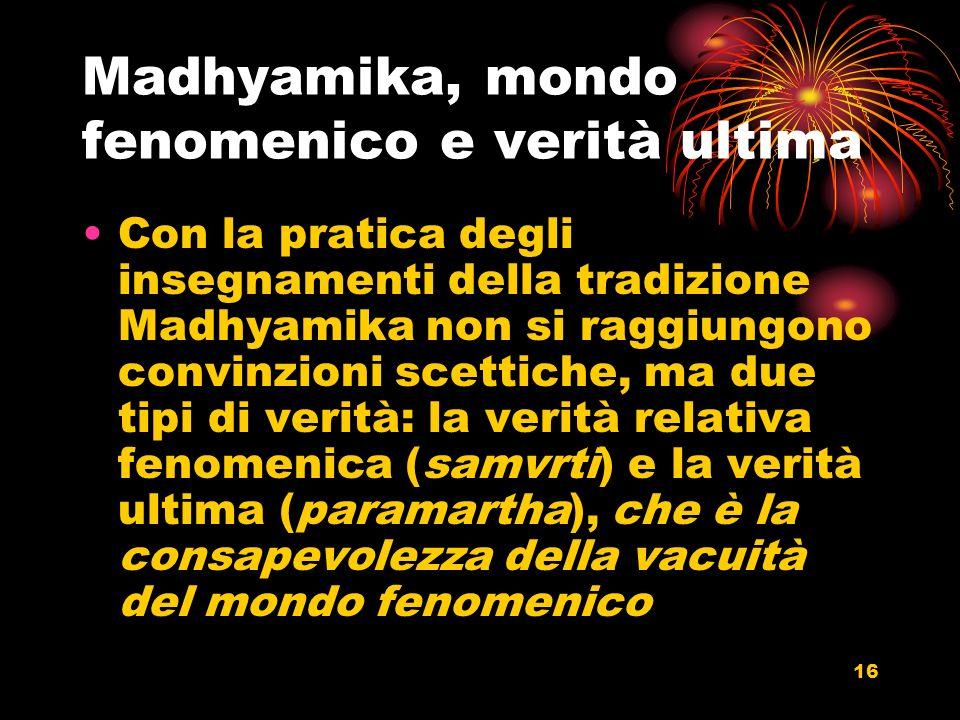 Madhyamika, mondo fenomenico e verità ultima