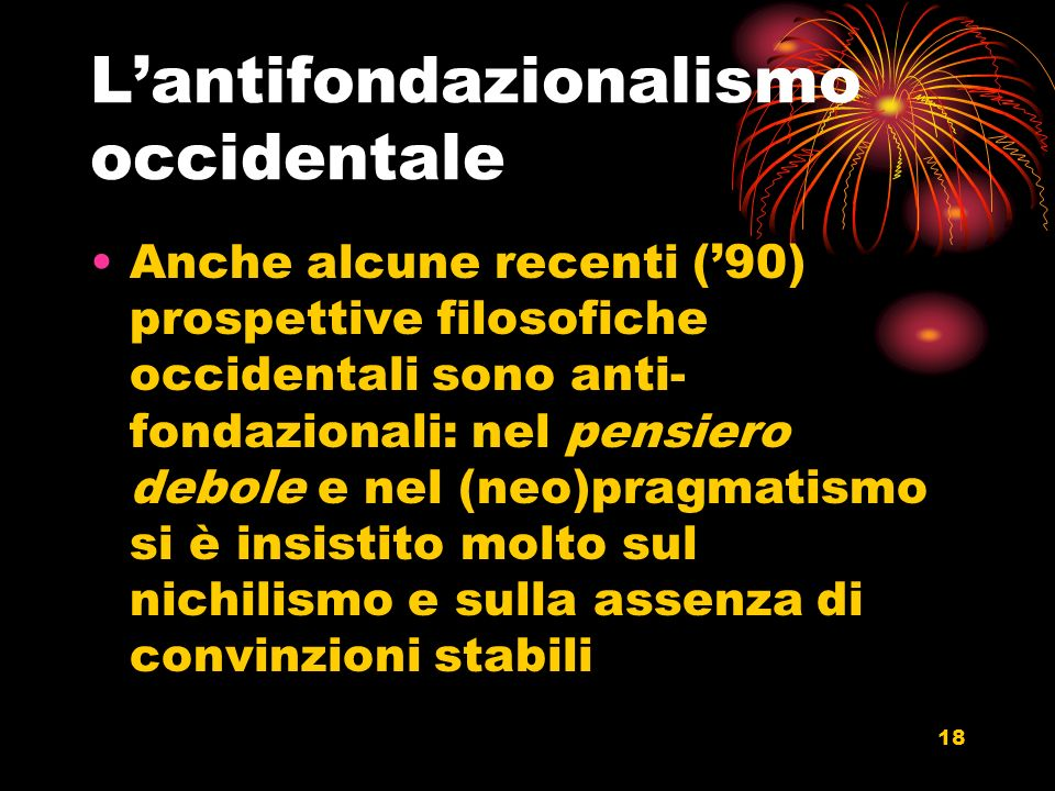 L'antifondazionalismo occidentale