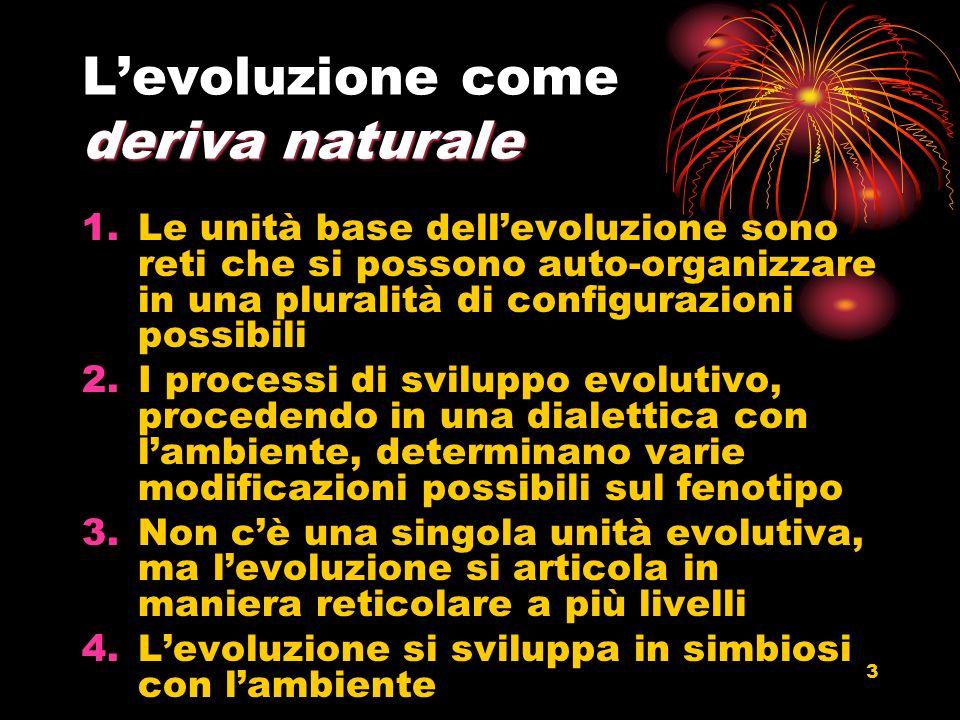 L'evoluzione come deriva naturale