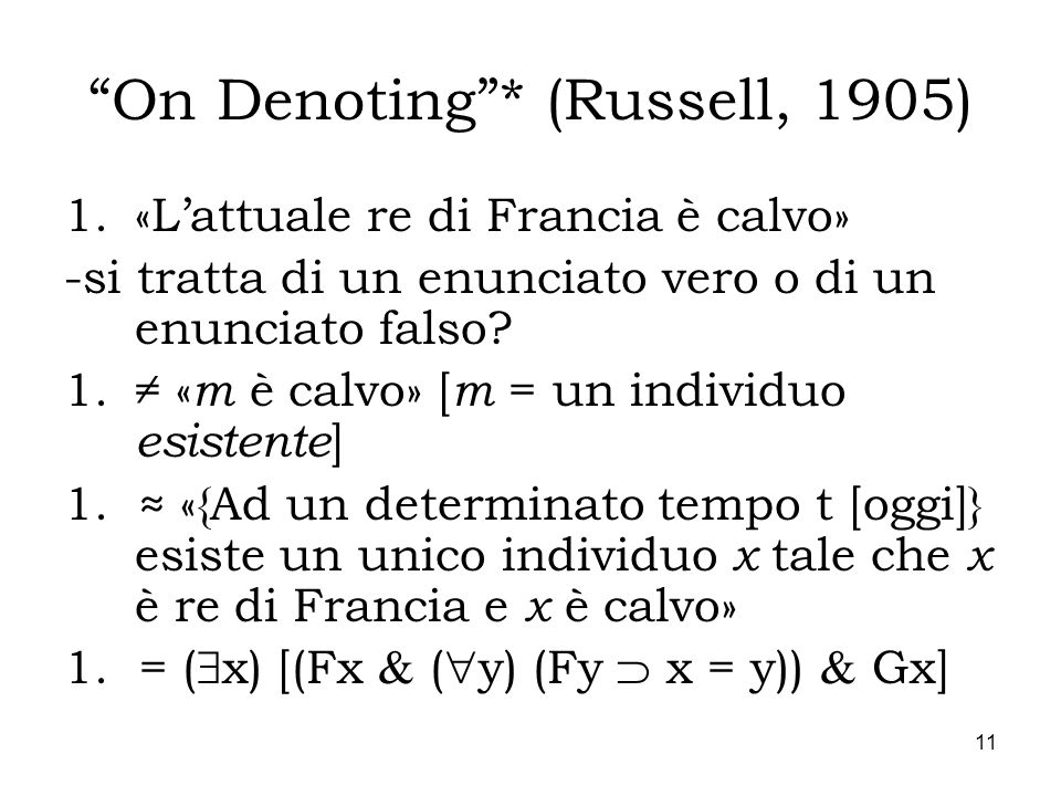 On Denoting * (Russell, 1905)